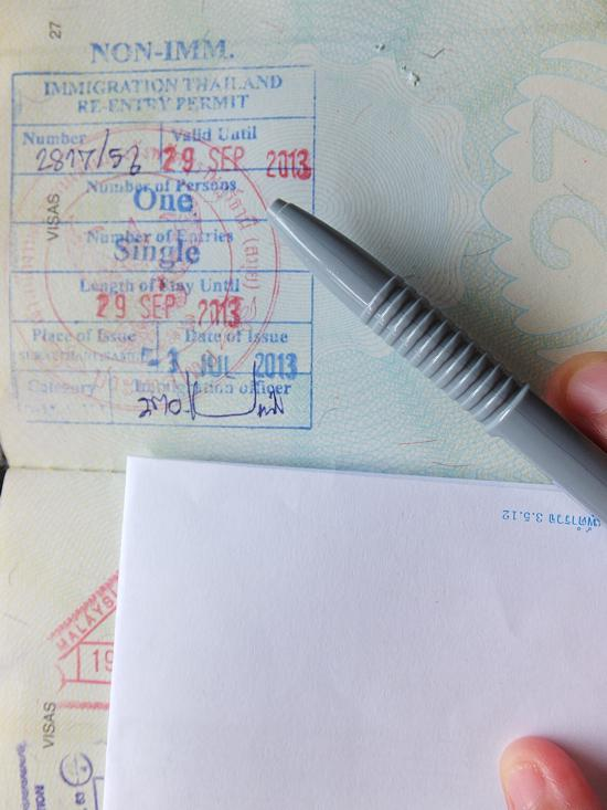 You'll need one of these if you don't want your visa cancelled while doing a little trip.
