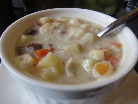 New England clam chowder -- my personal homesickness cure.