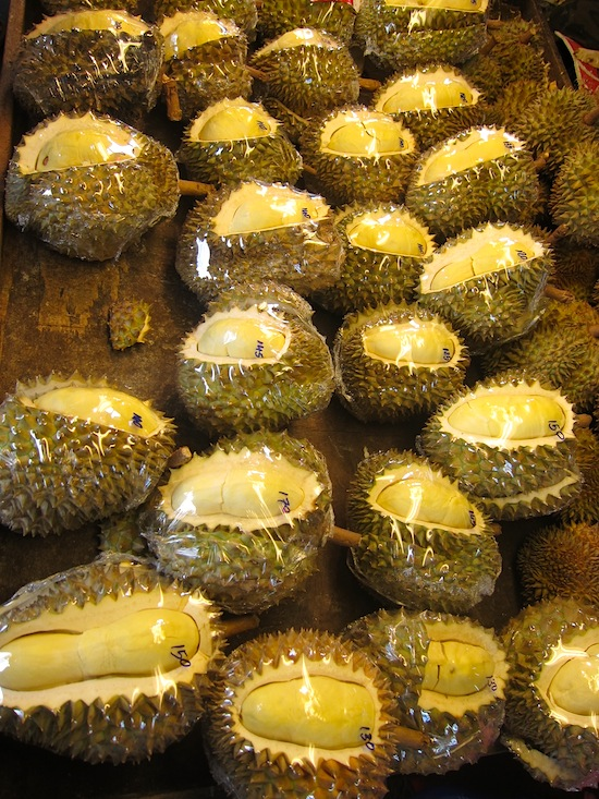 Don't think that plastic wrap can contain the durian stench.