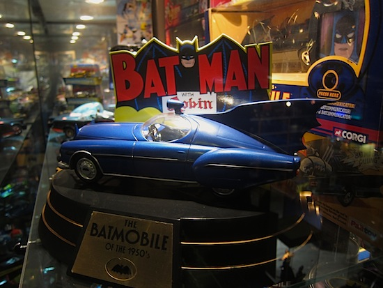 I wonder if Mr. Wayne has a separate cave for his vintage batmobiles.