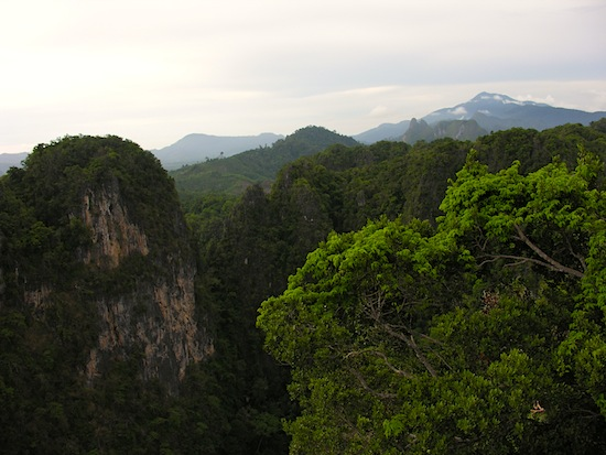 Looking west from atop Wat Tham Seua; the eastern view is even better.