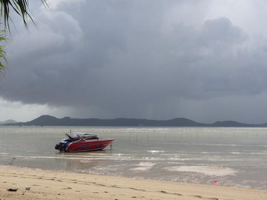 Stormy sky over Friendship Beach.