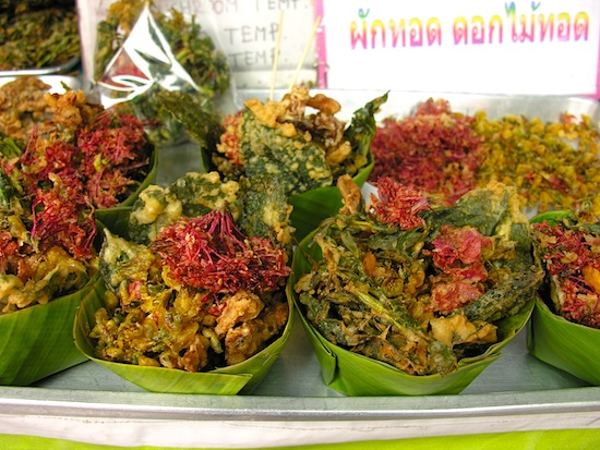 Fried flowers: a Ko Kret specialty.