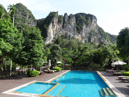 The best of Krabi in full view from the pool.