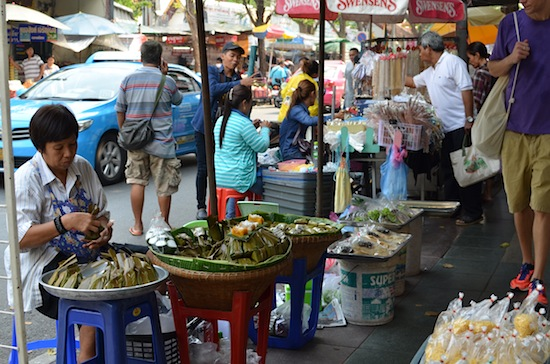 Another colourful day along Phra Chan Road