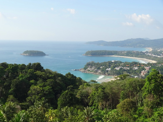 Kata Noi, Kata Yai and Karon beaches in view from the Karon Viewpoint.
