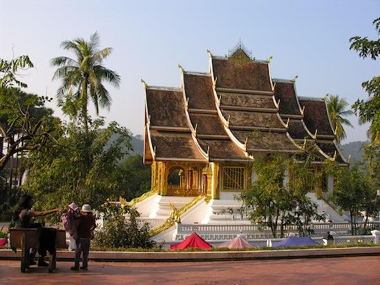 An ordinary Luang Prabang scene.