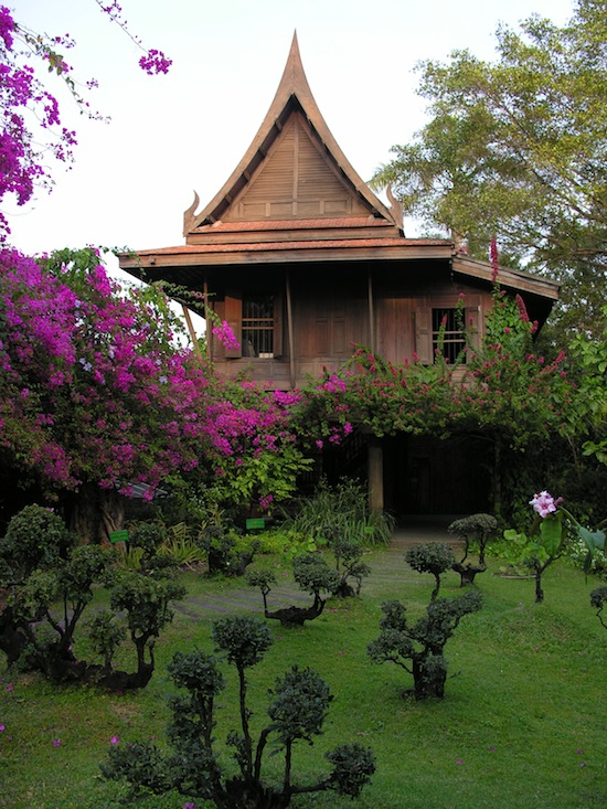 One of many Thai houses at Sampran.
