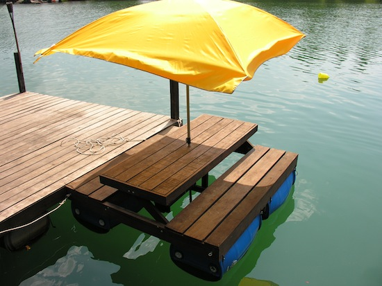 Motorised Floating Picnic Table (MFPT) at Moley's.