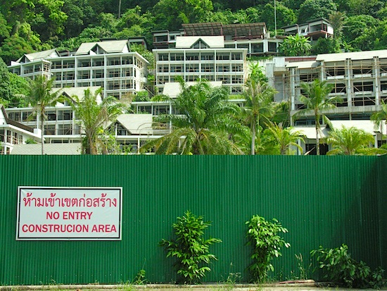 Once upon a time there were 30-baht bungalows here.
