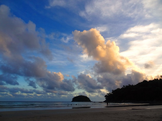 Ko Poo adds a bit of finesse to the sunset view off Kata beach.