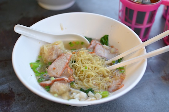 Crab-and-pork noodle soup: one bowl never enough.