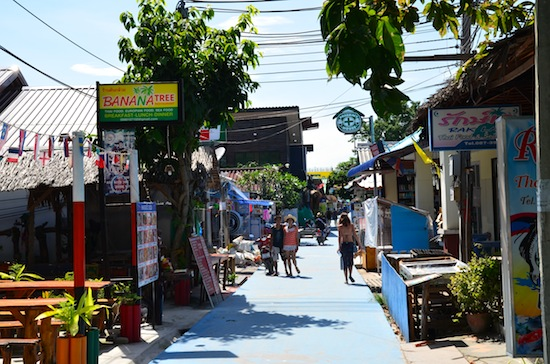 Walking Street is a five to 10-minute walk from every beach.
