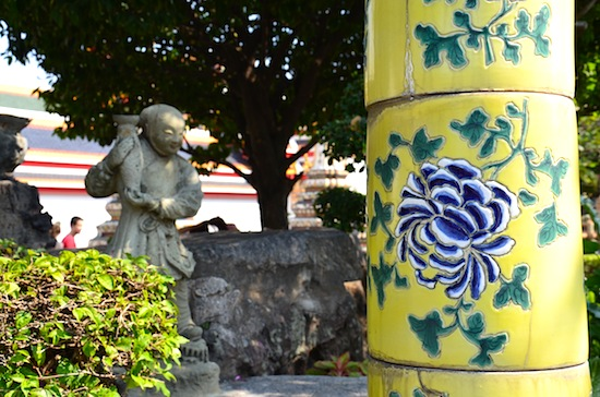 Even the lamp posts sport hand-made ceramic covers.