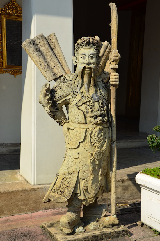 One of Wat Pho's many Chinese guardians.