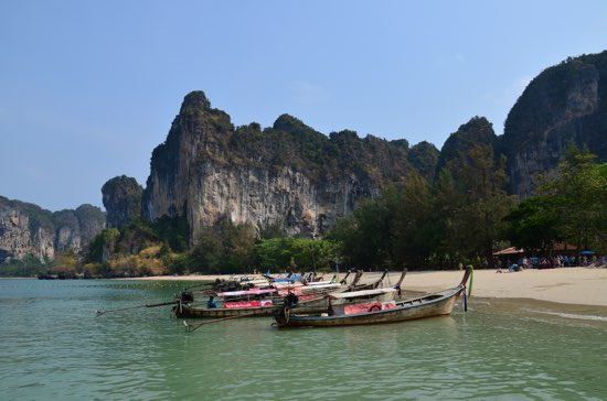 Railay parking lot.