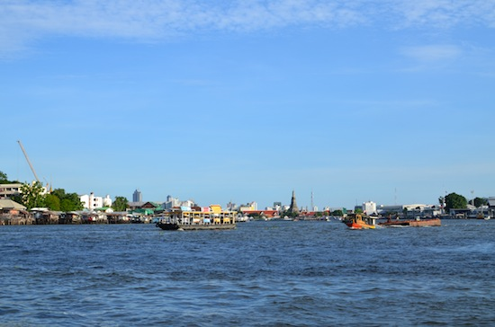 Another busy day on the Chao Phraya.