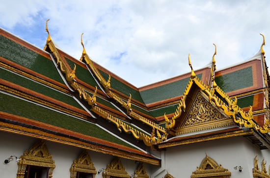 The Phra Maha Montien group were done in a more traditional Thai style.