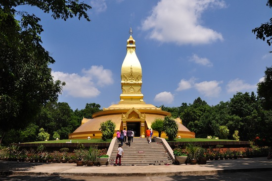 The Ajahn Chah shrine is a popular stop for Thai travellers.