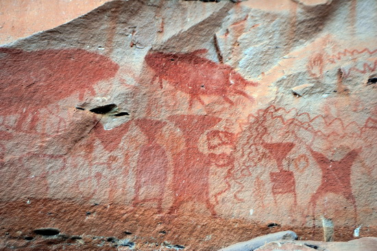 3,000 year-old cliff paintings.