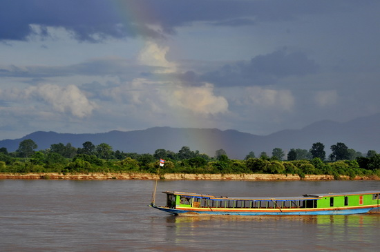Slow boat on The Mekong