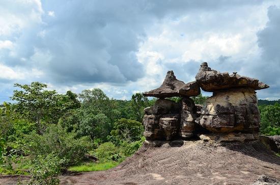 You'll find similar rock formations at Udon Thani's Phu Phra Bat and Ubon Ratchathani's Pha Taem.