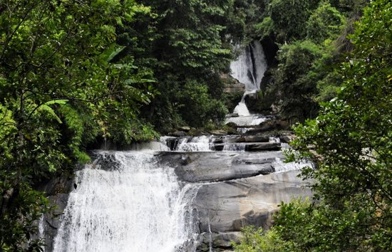 A waterfall within the national park.