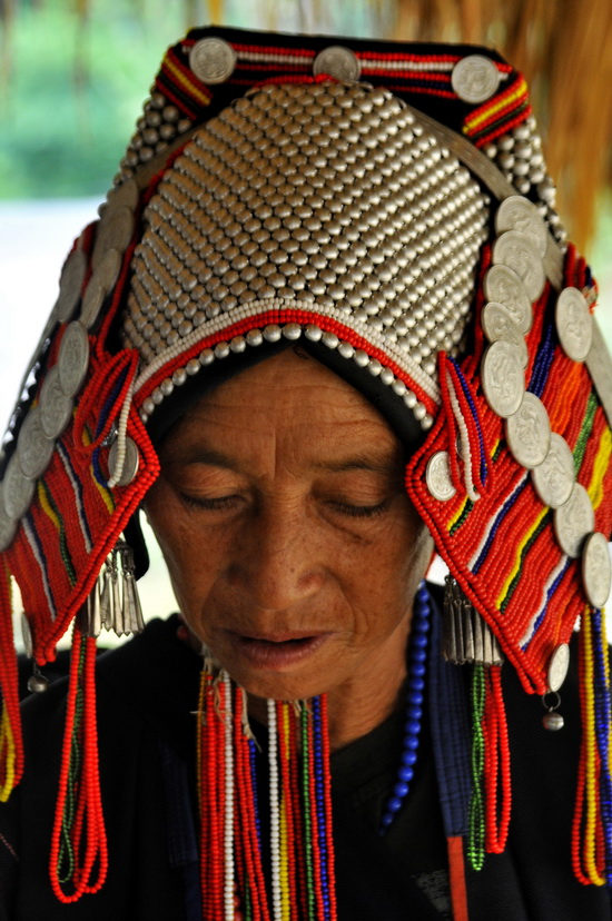 Magnificent Akha head dress