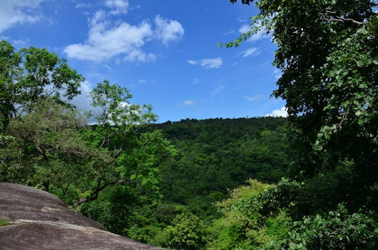 Phu Pha Thoep on a clear day, in the middle of rainy season.