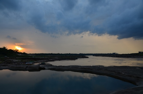Sunset storm clouds at Sam Phan Bok, Ubon Ratchathani province.
