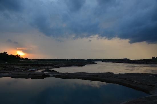 Sunset storm clouds at Sam Phan Bok, Ubon Ratchathani province.