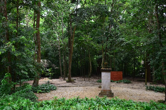 The site of Buddhadasa's cremation.