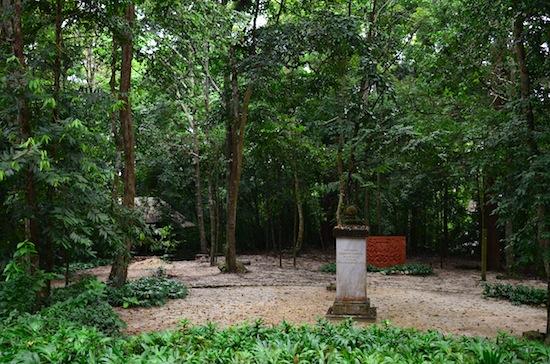 The site of Buddhadasa's cremation.
