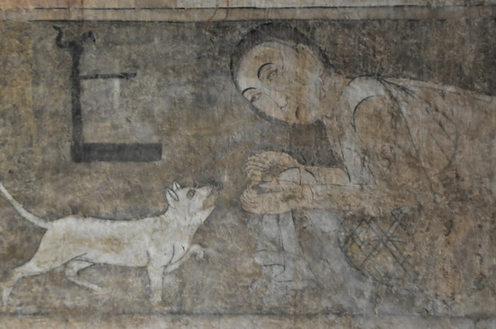 Detail from the spectacular murals