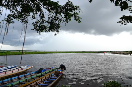 Stormy skies over Thale Noi.