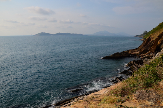 Looking north to Khao Laem Ya and the rest of the mainland.