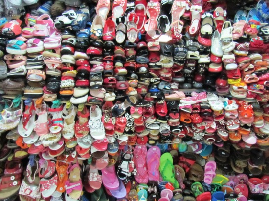 Millions and millions of miniature plastic shoes.