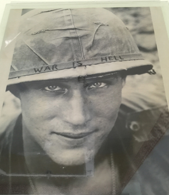 Photo in the Ap Bia (Hamburger Hill) museum in A Luoi.